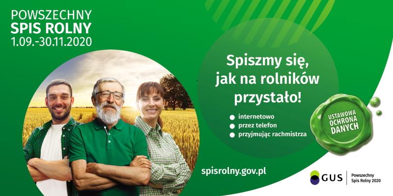 Obrazek przedstawia plakat promujący spis rolny